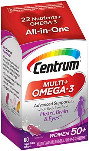 Multivitamins: Centrum Multi + Omega-3 Women