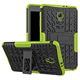 Tab A 8.0 T380 Case DWaybox Hybrid Rugged Heavy Duty Hard Back Case Cover with Kickstand for Samsung Galaxy Tab A 8.0 2017 SM-T380/T385 / Samsung Tab A2 S 2017 (Green)