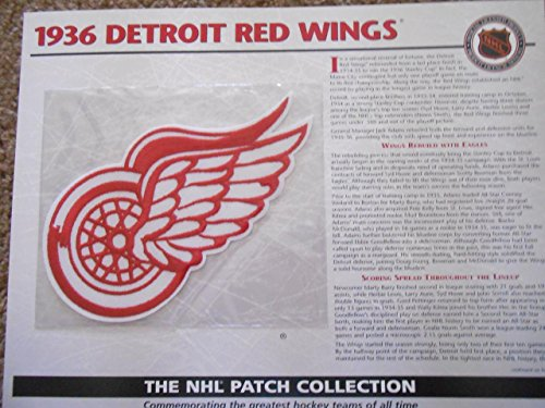 1936-Detroit-Red-Wings-Patch-NHL-Hockey-Willabee-Ward-Official-Jersey-Patch