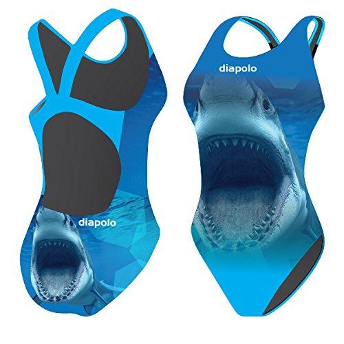 Diapolo Biting Shark Badeanzug aus der Wild Animals Kollektion für Schwimmen Synchronschwimmen Wasserball Thriathlon