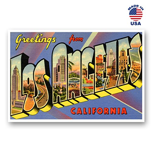 - GREETINGS FROM LOS ANGELES, CA vintage reprint postcard set of 20 identical postcards. Large letter Los Angeles, California city name post card pack (ca. 1930's-1940's). Made in USA.