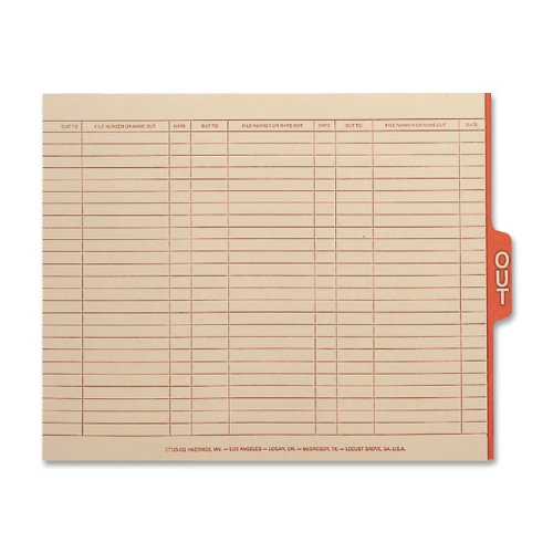 Smead End Tab Out Guides with Printed Form, 1/5-Cut Tab Center Position, Legal Size, Manila, 100 per Box (63910) ()