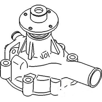 Amazon Com New Kubota D 622 Water Pump 1e051 73030 1e051 73034