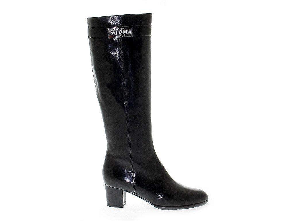 LINEA PITTI Damen PITTI781 Schwarz Leder Stiefel