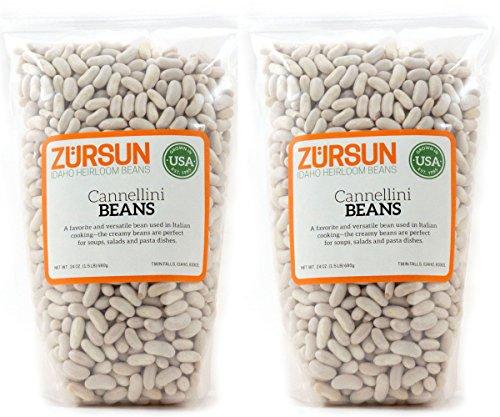 Zursun Heirloom Dry Cannellini Beans 24 oz each (2-Pack)