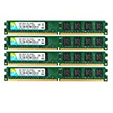 DUOMEIQI 8GB Kit(4X 2GB) 2RX8 DDR2 800MHz DIMM PC2-6300 PC2-6400 PC2-6400U CL6 1.8v 240 Pin Non-ECC Unbuffered Desktop Memory RAM Module Compatible with Intel AMD System