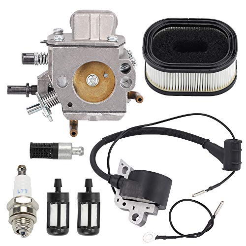 Trustsheer MS460 Carburetor Replacement for Stihl 044 046 MS440 MS460 Chainsaw Parts 1128 120 0625 with Tune Up Kit Ignition Coil Air Filter