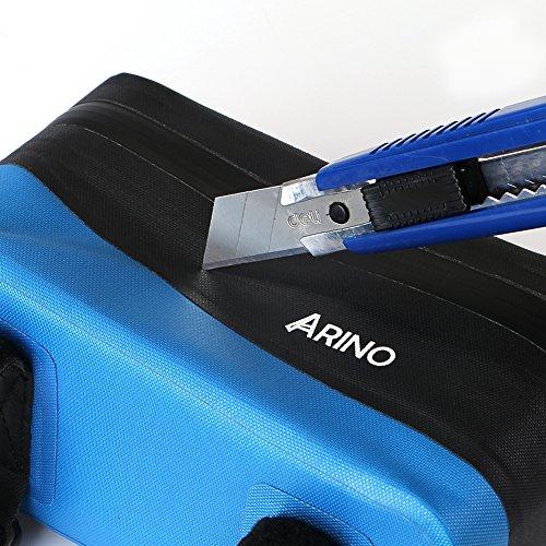 ARINO Fahrradrahmentasche Fahrradtasche Oberrohrtasche für Handy Smartphone Taschenlampe Trinkflasche usw.Wetterfest Passend zu Allen Fahrradtypen Wasserdicht Blau TsiVj8tmeq