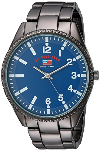 U.S. Polo Assn. Men's Quartz Metal and Alloy Casual Watch, Color:Black (Model: US8641)