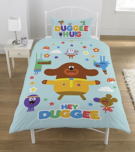 Hey Duggee Hello Squirrels Duvet Set, Polyester-cotton, Multi-colour, Single by Duggee