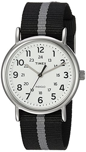timex-mens-tw2p72200-weekender-reversible-black-gray-stripe-nylon-slip-thru-strap-watch