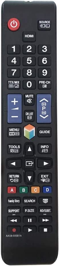 Nuevo Mando a Distancia AA59-00581A Mando para Samsung TV, Reemplazo Mando a Distancia para Samsung LCD LED Smart TV