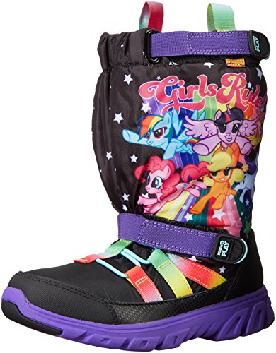 Stride Rite Made 2 Play Sneaker Winter Boot (Toddler/Little Kid), Black/Rainbow, 6 M US ()