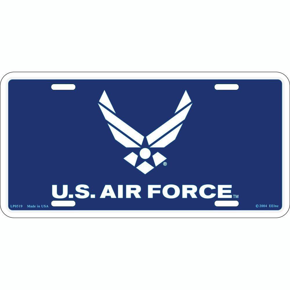 L175 USAF AIR FORCE EAGLE License Plate Front Custom Novelty Tag Vanity Frame Holder Wrap Wraps