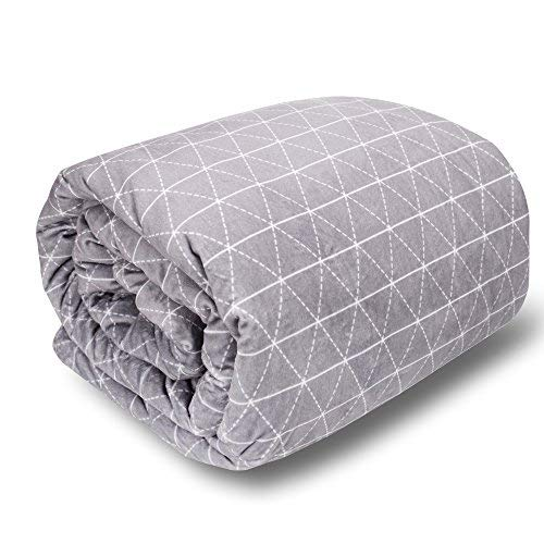rocabi 15 lbs Adult Weighted Blanket & Cover Luxury Set (80