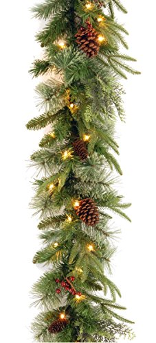 National Tree 9 Foot by 10 Inch Feel Real Colonial Garlan...