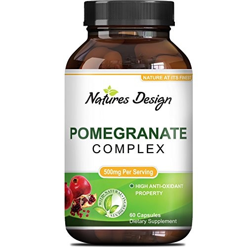 Natural amp Pure Pomegranate Supplement For Women amp Men - Powerful Antioxidant Pills Immune System Booster - Best Energy Booster Supplements Blood Pressure Control - Pure Capsules By Natures Design Discount