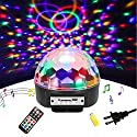 DJ Light LED Disco Ball Lights - SOLMORE 9 Color Stage Light Party Lights Rotating Crystal Magic Disco lights Sound Activated Strobe Light MP3 Play for Wedding Party KTV Club Show AC 240V(with Remote)