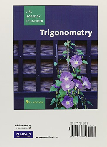 Trigonometry, A La Carte plus MyMathLab and Review Study Card (9th Edition)