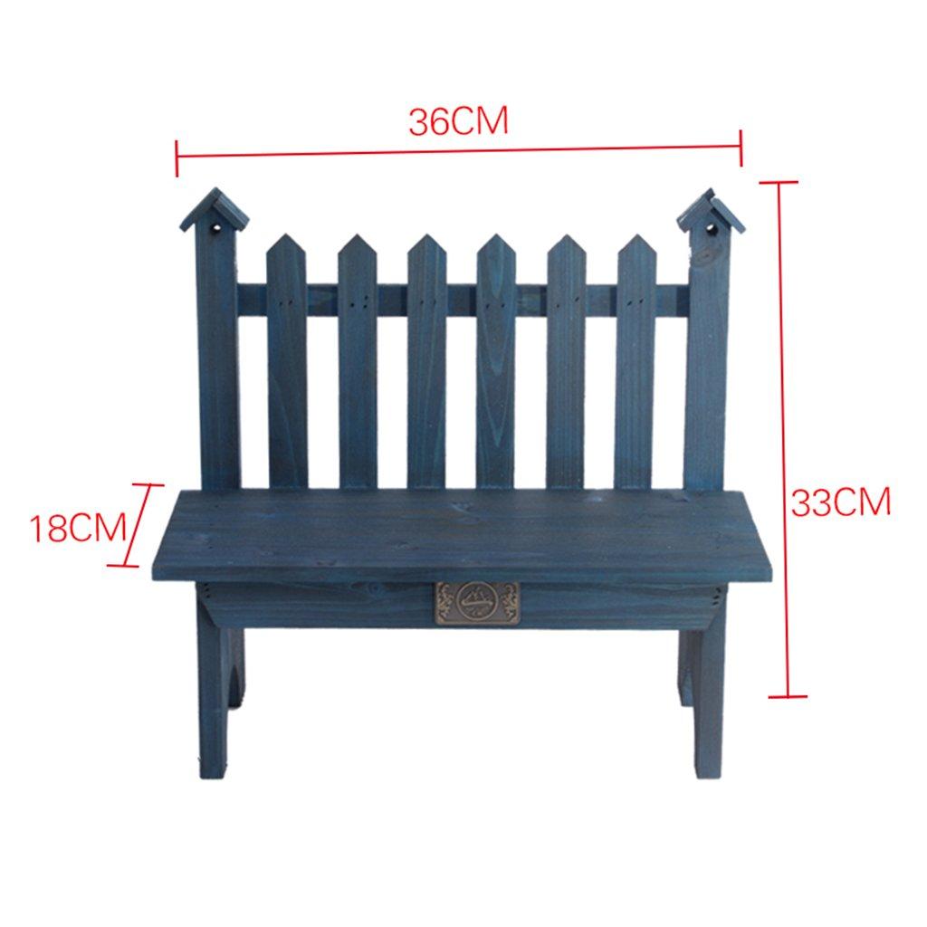 Lightweight Wood With Trellis Multifunctional Wood Pot Shelf Flower Rack Flower Stand For Indoors 183633CM ( Color : Blue )