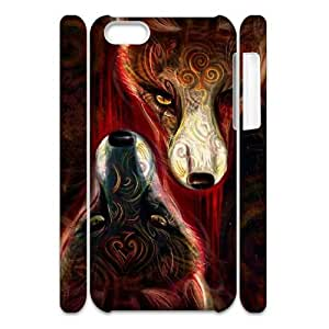 Personalized Protective Hard 3D Plastic Case for Iphone 4,4S - FOX Print custom 3D case at CHXTT-C