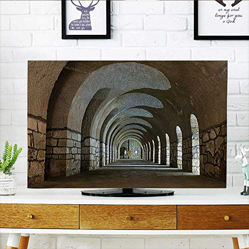 - Auraisehome Front Flip Top Corridor in an Old Fortress Touristic Historical Landmark Medieval Hallway Arch Picture Sand Front Flip Top W36 x H60 INCH/TV 65