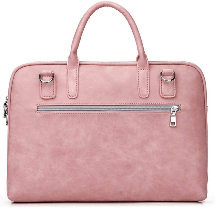 Color : Pink C2, Size : 13 Laptop Messenger Bag Pu Leather Computer Bag 13.3-inch 14-inch 15.6-inch Waterproof and Shockproof Notebook
