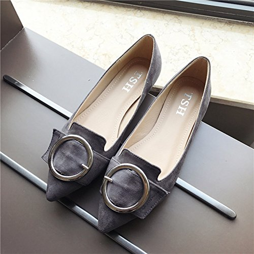 YFF Women's shoes pointed heels shallow mouth heels pointed bow tie ladies flat shoes,black , 41 casual all-match B072XJBB17 Parent a14a07