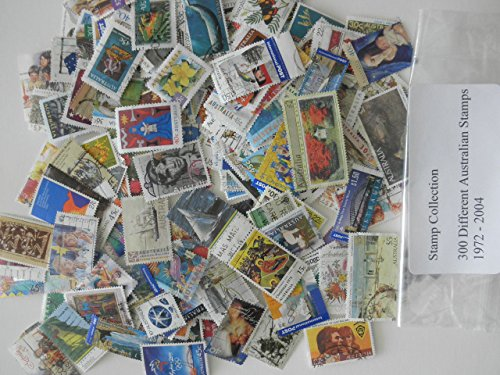 Australian Stamps- Collection of 300 Different Used Stamps 1972-2004