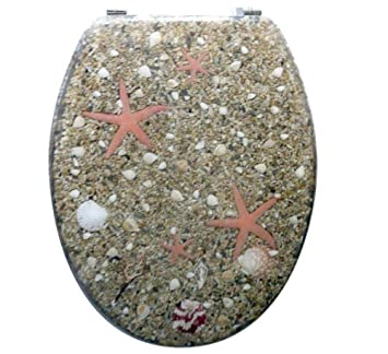 Unique Coastal Beach Beige Shell Sand Pebble Stone Starfish Resin