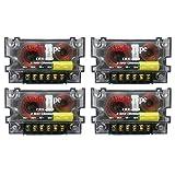 4 Pack Audio Speaker 2 Way Crossover 4 Ohm CRX-203 400 Watt Passive Mid High