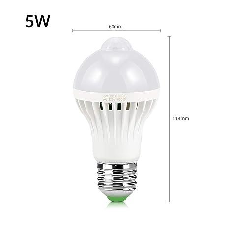Bombilla LED para sensor de movimiento E27 220V 5W 7W 9W 12W 18W Luz de emergencia