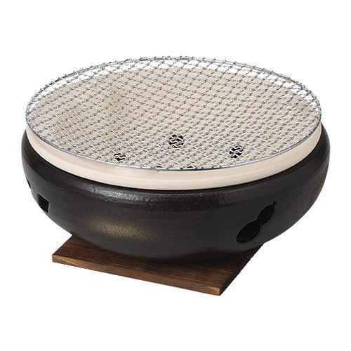[mkd-904-28-82e] Stove Black Ise Charcoal grill No. 7 water cooker [20 x 8.5 cm] Tatei Ryokan Japanese style dish for eating and drinking establishment by SETOMONOHONPO