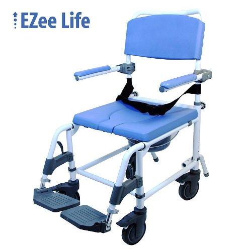 Attendant Shower Transport Chair Bath Toilet Commode Aluminum Adjustable