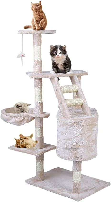NIKINA - Juguete de Saltar para Gatos con Escalera para ...