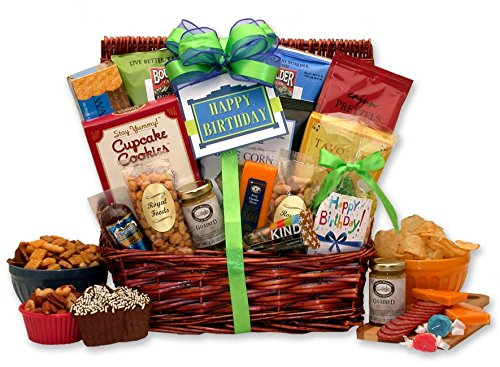 Birthday Surprise Gift Basket for Him (Birthday Gift Baskets For Husband)