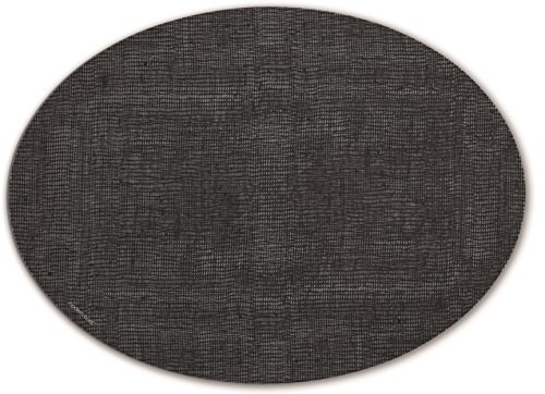 Oval Silicone (modern-twist POLN07 Placemat Oval, Linen-Black)