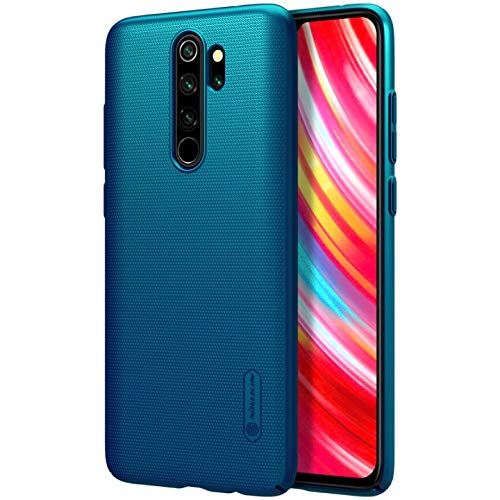 Nillkin Case For Xiaomi Redmi Note 8 Pro 6 53 Inch Super Frosted Hard Back Cover Pc Peacock Blue Color Amazon In Electronics