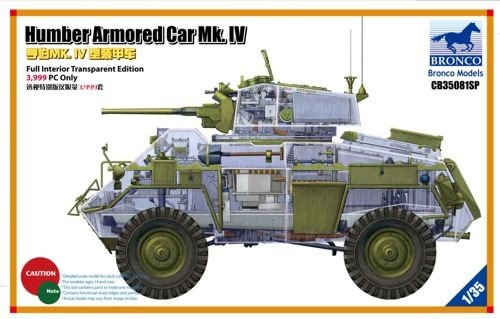 Unbekannt Bronco Models CB35081SP - Modellbausatz Humber ArmoROT Car Mk.IV, Limited Editio 3.999 Only