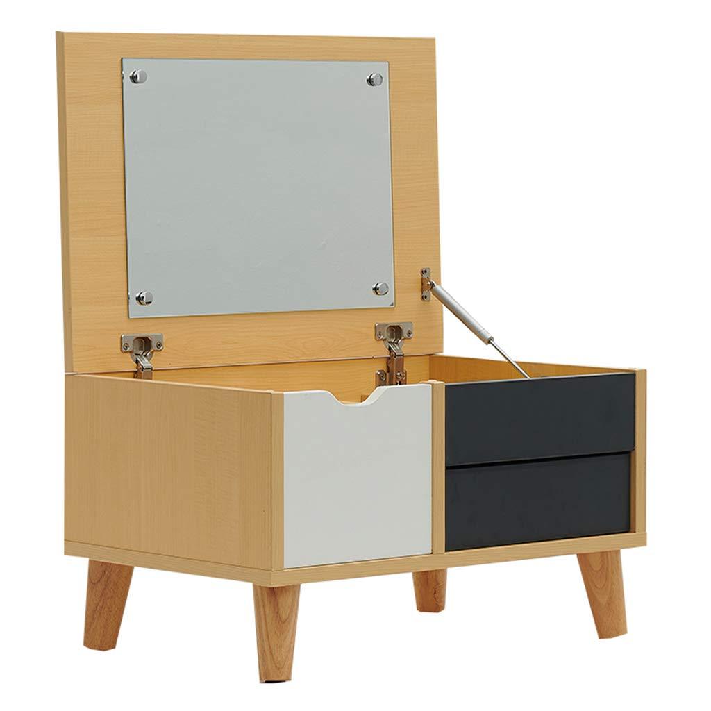 鏡台ドレッサー ドレッシングテーブルテーブルトップドレッシングテーブルコーヒーテーブルフリップドレッシングテーブル小さなアパートソリッドウッド多機能ウィンドウコーヒーテーブル畳57cmドレッシングテーブル (Color : Wood, Size : 57*40*34cm) B07KMYWY5Y Wood 57*40*34cm