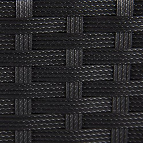 Wicker Deck Storage Box Weather-Proof Outdoor Patio Furniture Durable Sun-Resistant Black by Rattan Boxes (Image #3)