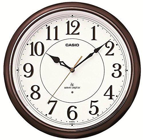 [IQ-1051NJ-5JF IQ-1051NJ-5JF dark brown wall clock with analog radio feature Casio Steady (Japan] (Dark Chocolate M&ms Costumes)