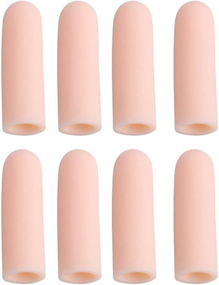 VORCOOL Finger Protector casquillos de silicona Finger celdas para schützende rotas dedos 8unidades (Color de piel)