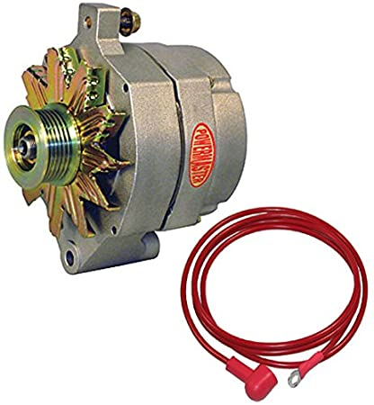 amazon com: new powermaster natural finish alternator, serpentine pulley,  150 amp, ford,    : automotive