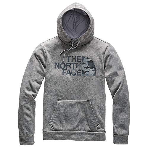 The North Face Men's Surgent Pullover Half Dome Hoodie 2.0, TNF Medium Grey Heather/Asphalt Grey Camo Print, L