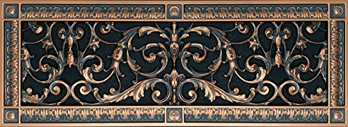 Decorative Vent Cover, Grille, Return Register, Made of Urethane Resin, in French Style fits Over a 6