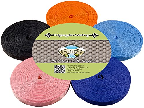 Country Brook Design 1/2 Inch 10 Yards of 5 Colors Polypro Webbing #2 by Country Brook Design