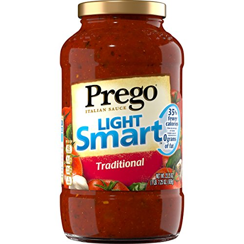 Prego Italian Pasta Sauce, Light Smart Traditional, 23.25 Ounce (Pack of 12) (Packaging May (Light Pasta)