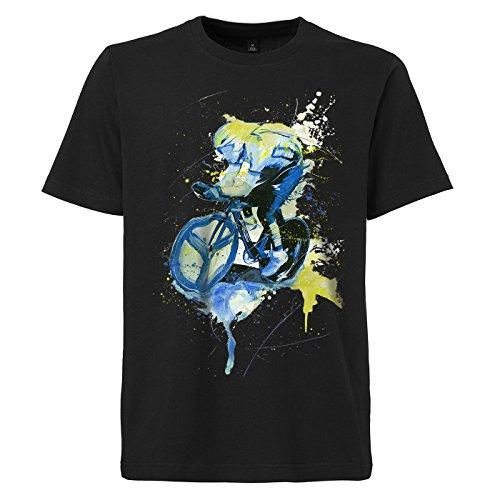 Radsport_I schwarzes modernes Herren T-Shirt mit stylischen Aufdruck