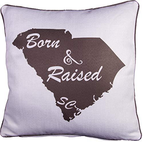 Throw Pillow Decorative Burlap Gift Cushion State Silhoutte South Carolina
